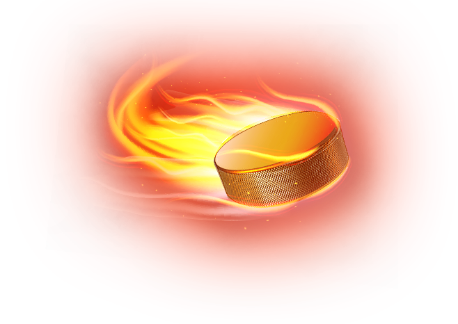 хоккейная шайба в огне