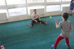 Тренировка в зале хоккейного вратаря