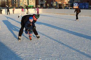 Индивидуальная тренировка с маленьких хоккеистом