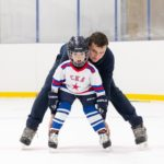 Занятия на коньках с ребенком