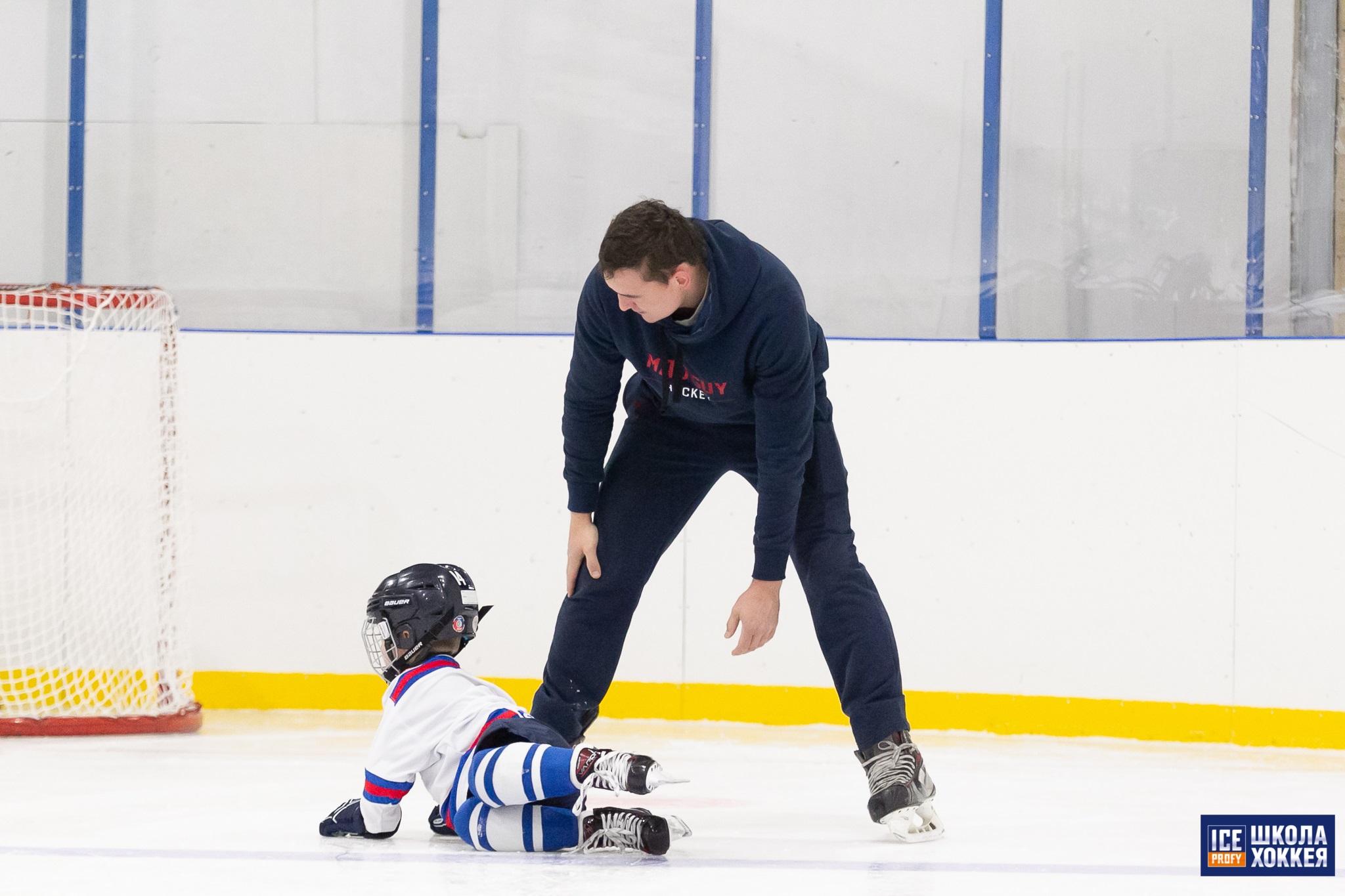 Тренировка с ребенком на льду